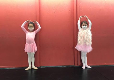 Dancers from Advanced Pre Ballet participate in an in-person class at Heartbeat Dance Academy.