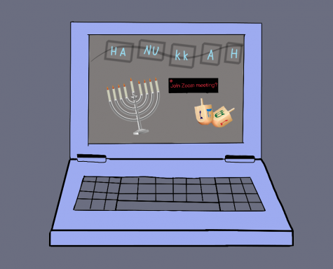 The Jewish Club celebrated their Hanukkah party online this year due to the ongoing pandemic.