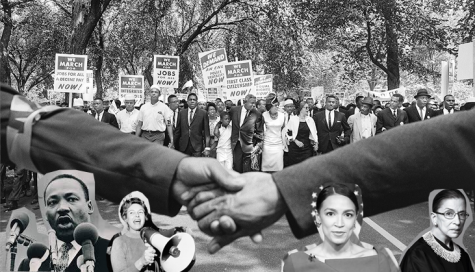 Civil rights advocates protest in hopes of seeing a better future filled with equality.