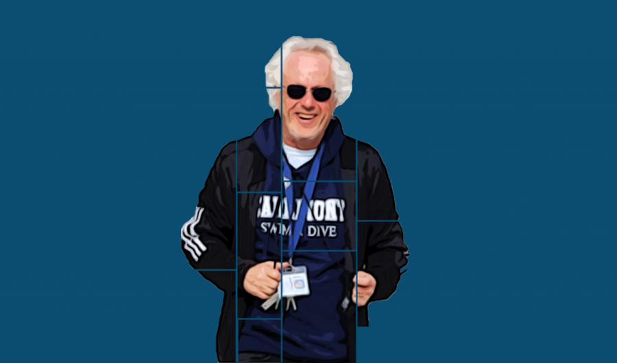 Carlmont substitute James McDowell shares his Carlmont spirit with his swim and dive hoodie.