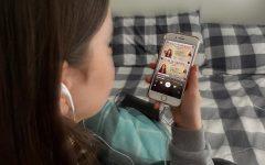 Sophomore Emily Hall listens to Olivia Rodrigo's new song