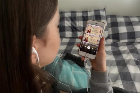 Sophomore Emily Hall listens to Olivia Rodrigo