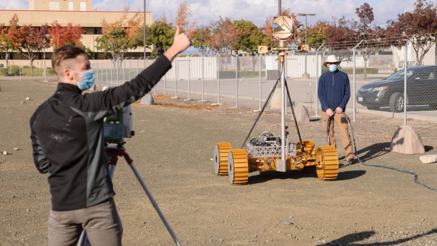 Engineers work through a pandemic to continue testing the VIPER rover at NASA's Ames Roverscape.