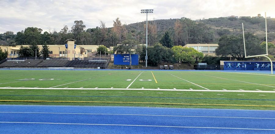 The+Carlmont+field+remains+empty+and+unused+as+the+school+year+moves+forward.