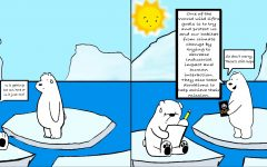 Global Warming is slowly deteriorating Polar Bears' habitat by melting the ice. This makes it hard for them to survive because of how much their daily activities revolve around the frozen ground. Polar Bears are a threatened species and the World Wild Life Organization is trying their best to help save them and their environment.