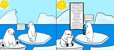 Global Warming is slowly deteriorating Polar Bears