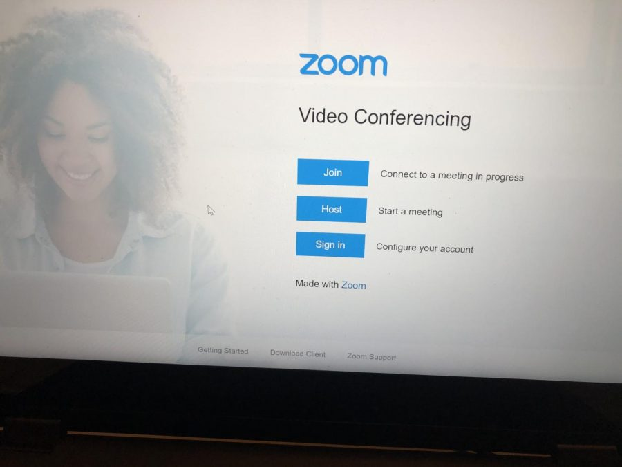 Zoom open on a computer.