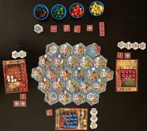 A finished game of Century Eastern Wonders. This game