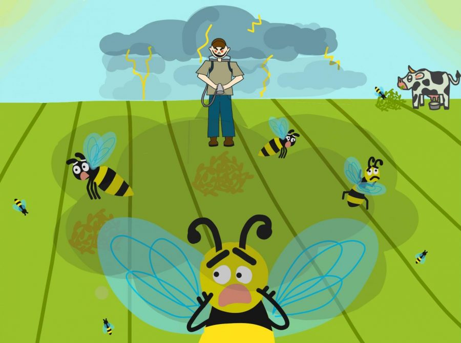 Cartoon: Bee-ware of Pesticides