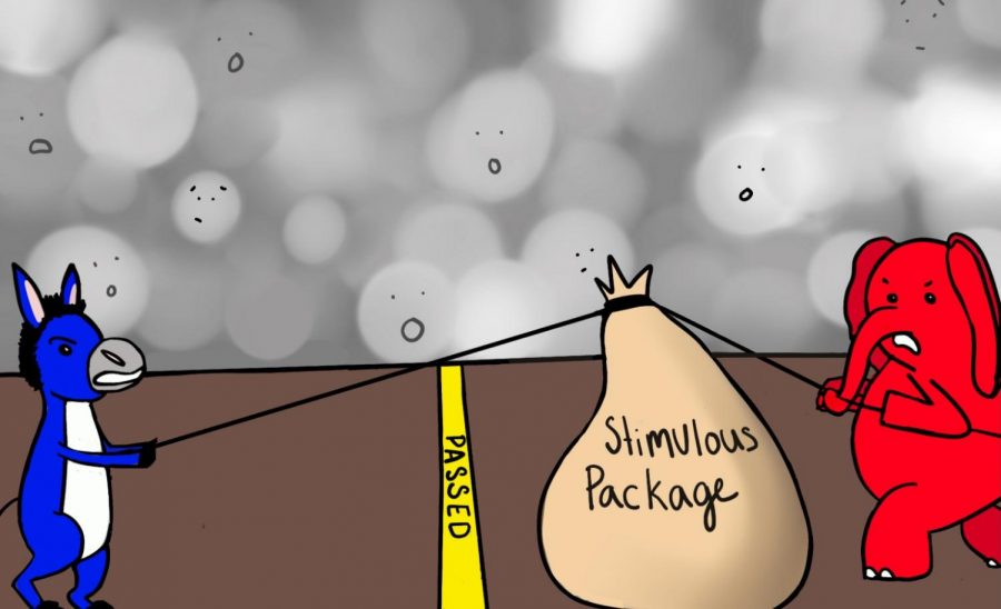 Cartoon: The Push and Pull of the Stimulus Package