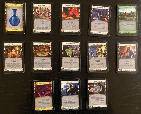 Dominion: Alchemy is a smaller expansion for Dominion. It adds 12 new kingdom cards, and most of them require the new potion currency to buy them.