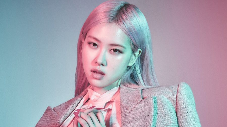 "Rosé poses for her most recent group comeback release, ""THE ALBUM,"" before her solo debut."