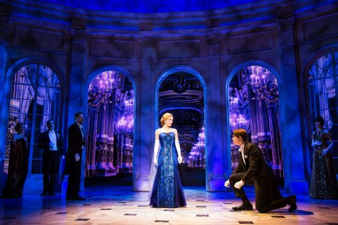 The long lost princess Anastasia (Christy Altomare) makes her grand re-entrance into royal life on the Broadway stage.