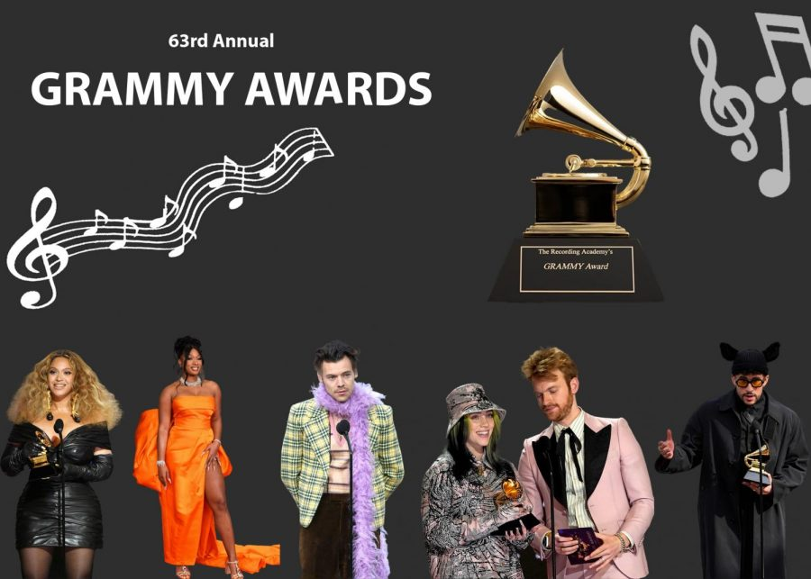 The+63rd+annual+Grammy+awards+hosted+many+artists+and+handed+out+awards+to+recognize+incredible+music.