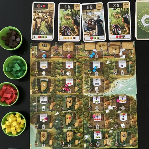 Century A New World is the third game in the Century trilogy, designed by Emerson Matsuuchi. Two to four players can play this set collection game in 30-45 minutes.