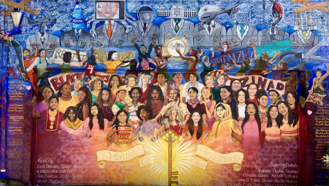 The Women of the Resistance mural, found in Balmy Alley in San Francisco, Calif., depicts women activists around the world uniting. The artists of this mural are Adriana Adams, Erika Gomez-Henao, Sonia Molina, Michelle Rios, and Yasmine Madriz.