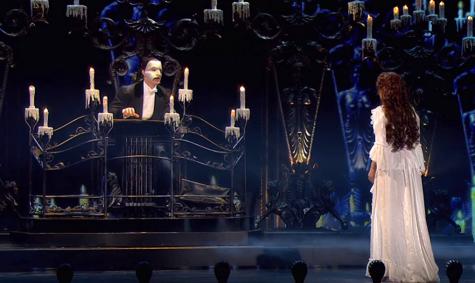 Christine (Sierra Boggess) is led beneath the opera house, to the lair of the dreaded Phantom of the Opera (Ramin Karimloo).