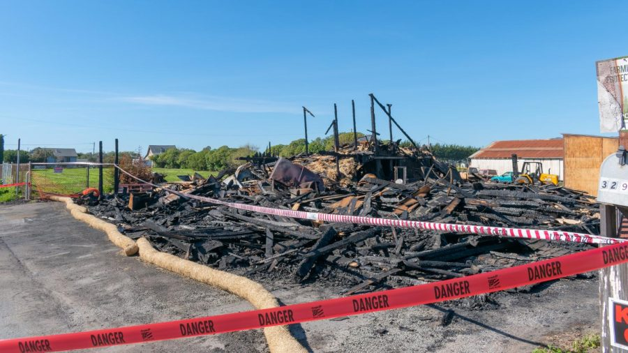 Andreotti barn stand ravaged by fire