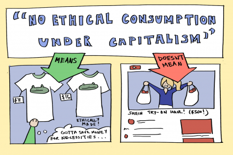 """The phrase """"No ethical consumption under capitalism"""" has been thrown around to describe consumer decisions in a capitalist society. Though it holds many truths, many are using the phrase to defend excessive and unnecessary purchases from fast fashion brands."""