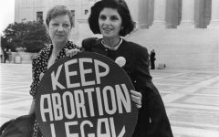 Norma McCorvey, widely known as Jane Roe, and her lawyer stand outside the Supreme Court in 1989. At this time, the Supreme Court was trying Webster v. Reproductive Health Services, a case that could have overturned Roe v. Wade.