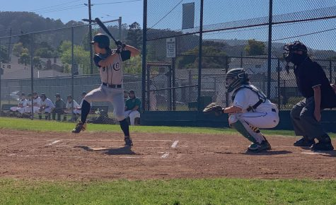 Sophomore Rintaro Sato swings his first run of the game.