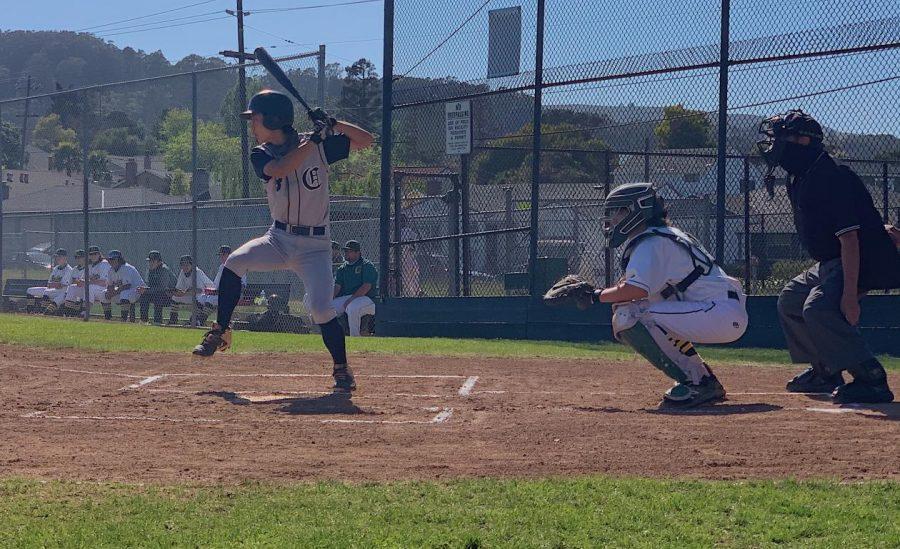 Sophomore Rintaro Sato swings his first run of the game.