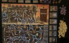 One of the new boards in Clank! The Mummy's Curse, set-up and ready to play.