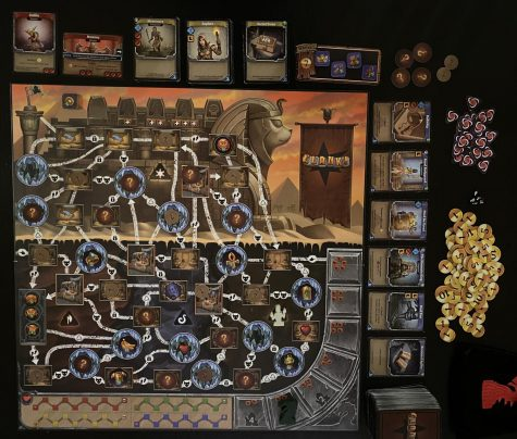 One of the new boards in Clank! The Mummys Curse, set-up and ready to play.