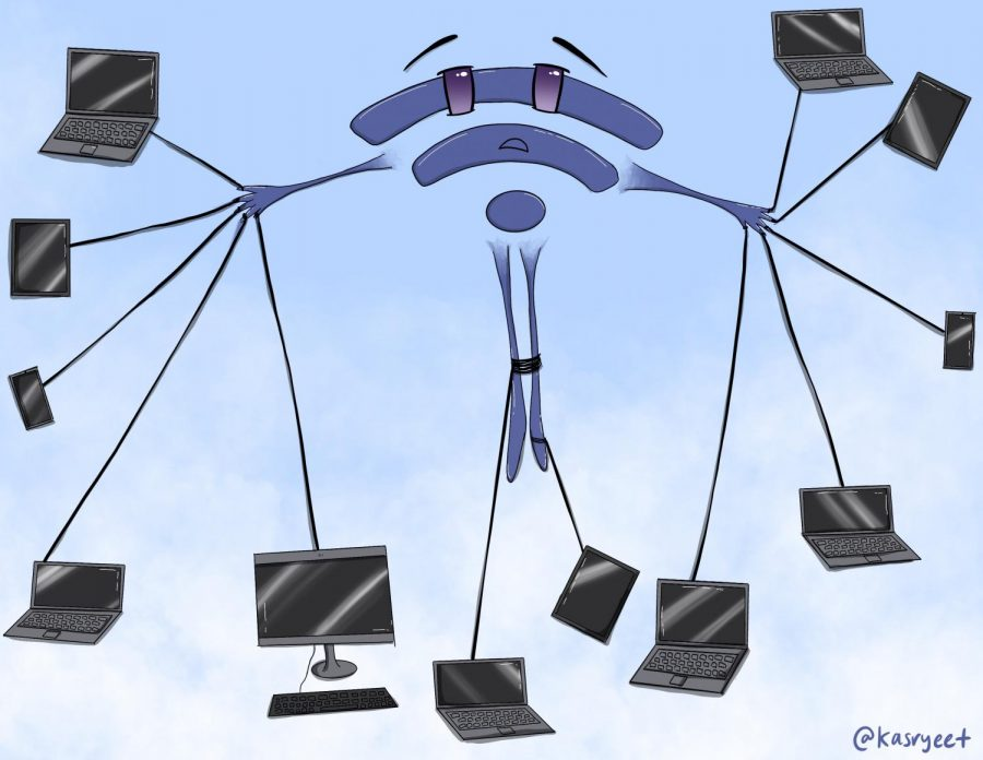 Due to weak wifi signals and the abundance of personal devices, students have been struggling to access online materials at school.