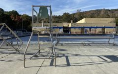 Carlmonts pool is left empty after the JV boys water polo game was canceled due to a COVID-19 case.