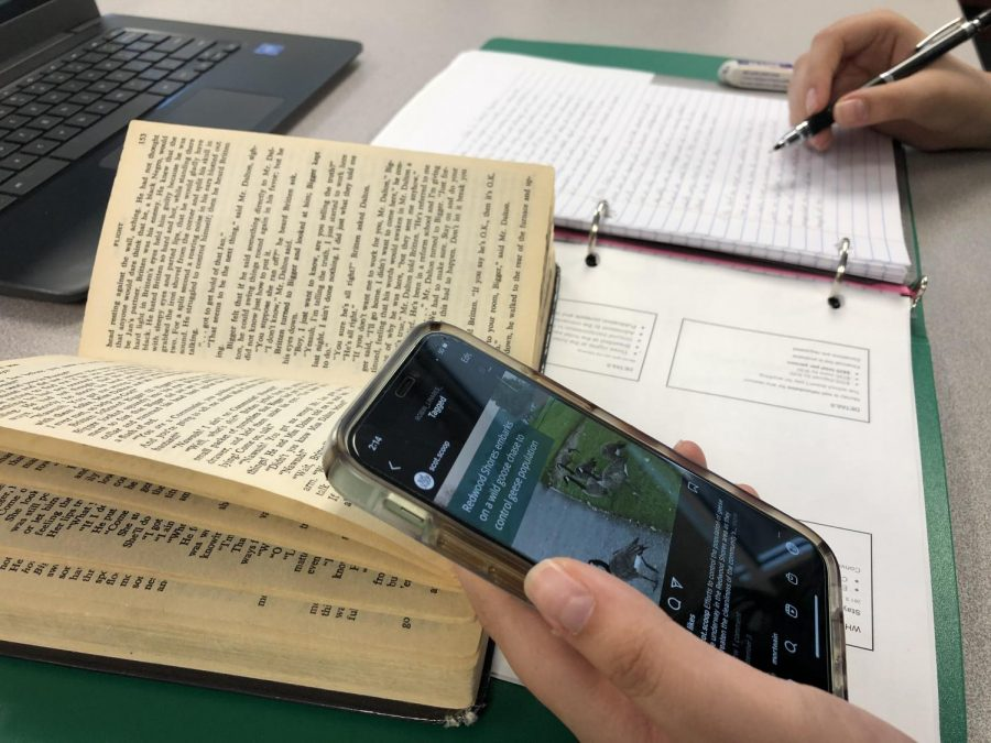 All students at Carlmont must bring their own electronic device to school to complete classwork on.
