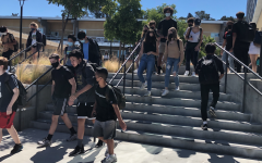 Carlmont students walk to their next class during passing period after the entire student body returned to school in August for the new school year.