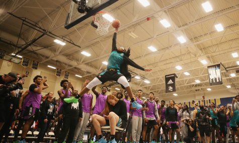 Francesca Belibi is the second woman to win the dunk contest in the Powerade Jam Fest.