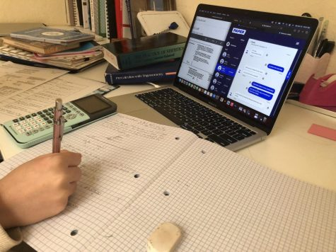 """Paper allows students to access tutoring online 24/7 for anything from feedback on essays to help with math problems. """"I really like how they are really fast, and it's really easy to upload everything. Everything is very straightforward,"""" Haley Chen, a senior at Carlmont, said."""