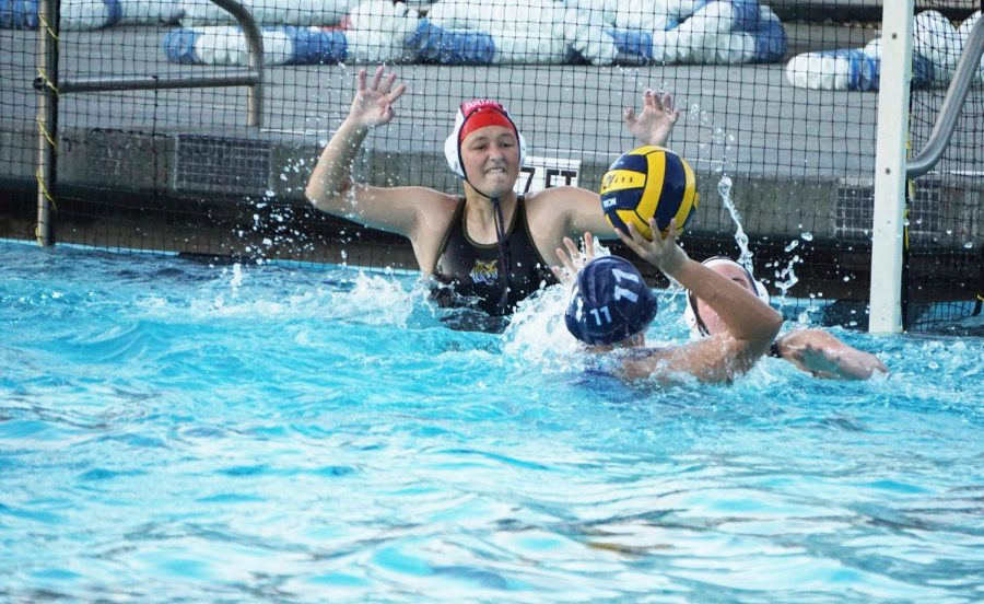 Carlmont shoots a powerful shot at the net during their hard-fought overtime loss.