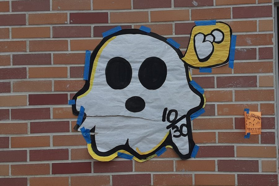This years homecoming theme is related to Halloween, so there are spooky decorations all around the school.